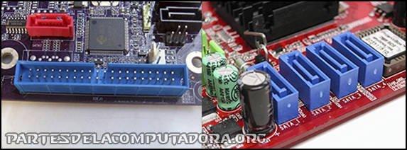 Conectores IDE y SATA