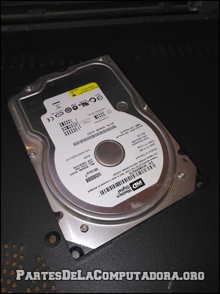 Un disco duro de computadora