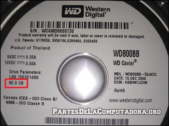 Detectando la capacidad del disco duro